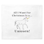 Christmas Unicorn King Duvet