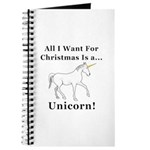 Christmas Unicorn Journal
