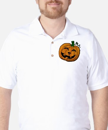 Happy Jack O'lantern Golf Shirt
