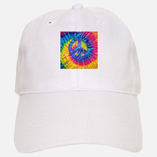 Peace Sign Hippie Hippy Psychedelic Tie-Dye Baseball Baseball Cap