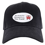 Christmas Fire Truck Black Cap
