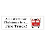 Christmas Fire Truck Sticker (Bumper 50 pk)
