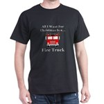 Christmas Fire Truck Dark T-Shirt