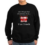 Christmas Fire Truck Sweatshirt (dark)