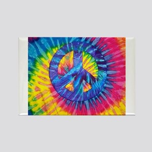 Peace Sign Hippie Hippy Psychedelic Tie-Dy Magnets