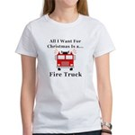 Christmas Fire Truck Women's T-Shirt