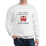 Christmas Fire Truck Sweatshirt