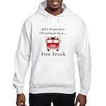 Christmas Fire Truck Hooded Sweatshirt
