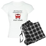 Christmas Fire Truck Women's Light Pajamas