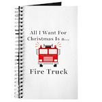 Christmas Fire Truck Journal