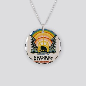 Vintage poster - South Kensi Necklace Circle Charm