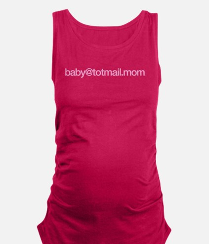 baby@totmail.mom_pink Maternity Tank Top