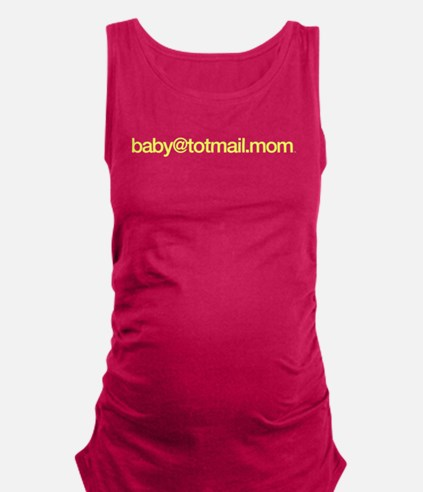 baby@totmail.mom_yellow Maternity Tank Top