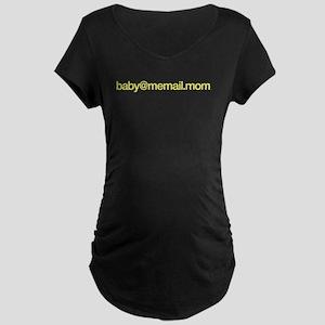 baby@memail.mom_yellow Maternity T-Shirt