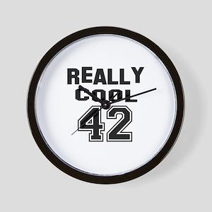 Really Cool 42 Birthday Wall Clock