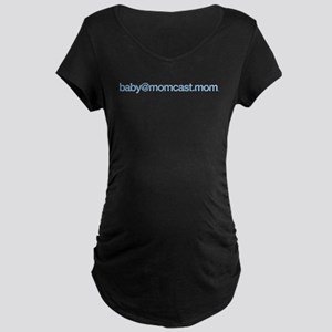 baby@momcast.mom_blue Maternity T-Shirt