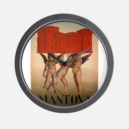 Vintage poster - Mantova Wall Clock
