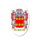 Perel 20x12 Oval Wall Decal