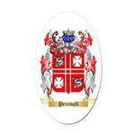 Percivall Oval Car Magnet
