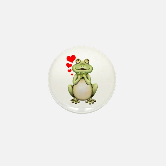 Frog Love Drawing Mini Button