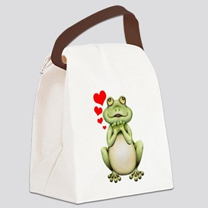 Frog Love Drawing Canvas Lunch Bag