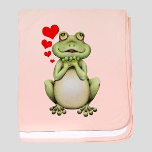 Frog Love Drawing baby blanket