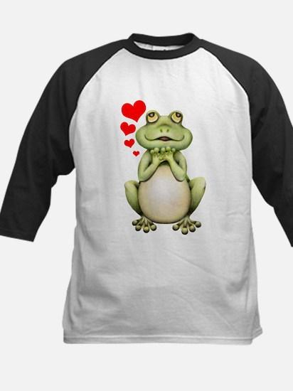 Frog Love Drawing Kids Baseball Jersey