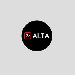 Snowboarding: Alta, Utah Mini Button