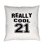 21 birthday Burlap Pillows