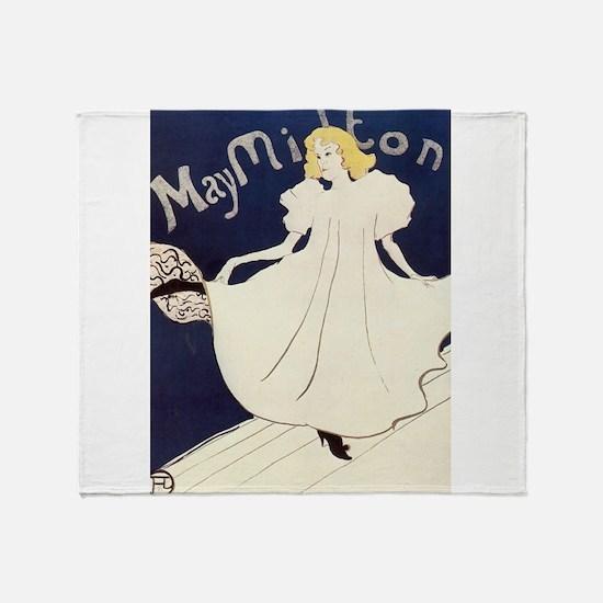 Vintage poster - May Milton Throw Blanket