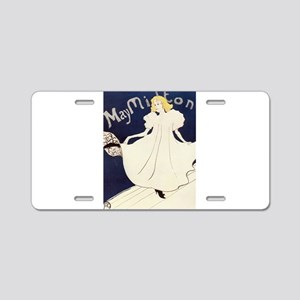 Vintage poster - May Milton Aluminum License Plate