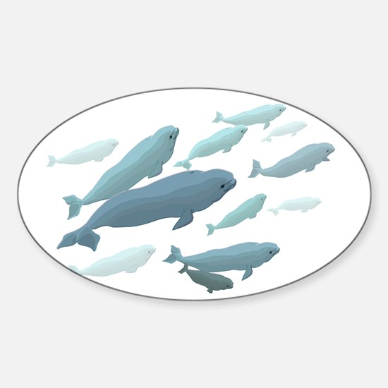 Beluga Whale Decal Marine Wildlife Art Decal
