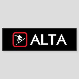 Snowboarding: Alta, Utah Sticker (Bumper)