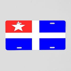 Cretan flag Aluminum License Plate