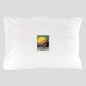Madrid Temporada de Primavera - Vintag Pillow Case