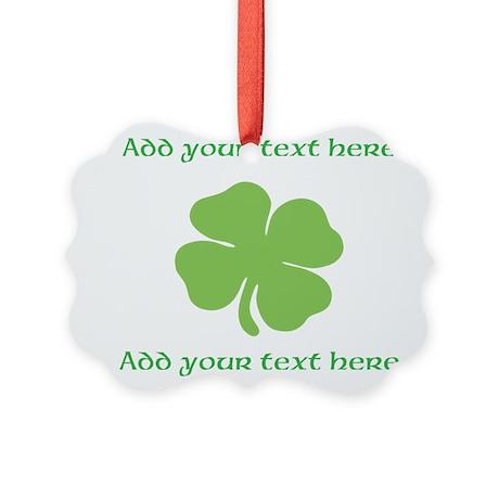 St. Patricks Day personalisable shamrock Ornament