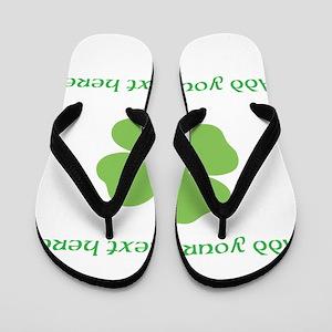 St. Patricks Day personalisable shamrock Flip Flop