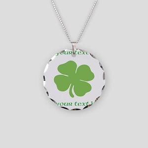 St. Patricks Day personalisable shamrock Necklace