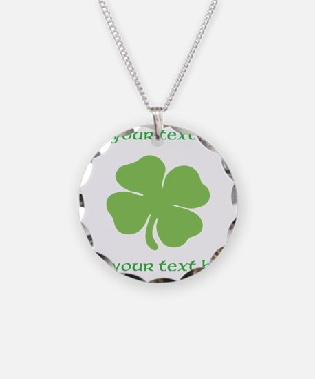 St. Patricks Day personalisable shamrock Necklace