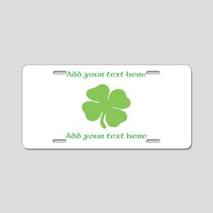 St. Patricks Day personalisable shamrock Aluminum