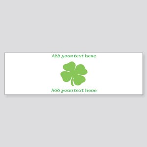 St. Patricks Day personalisable shamrock Bumper St