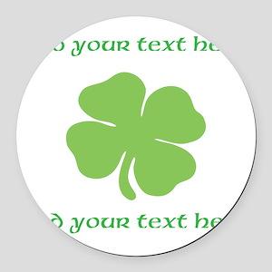 St. Patricks Day personalisable shamrock Round Car