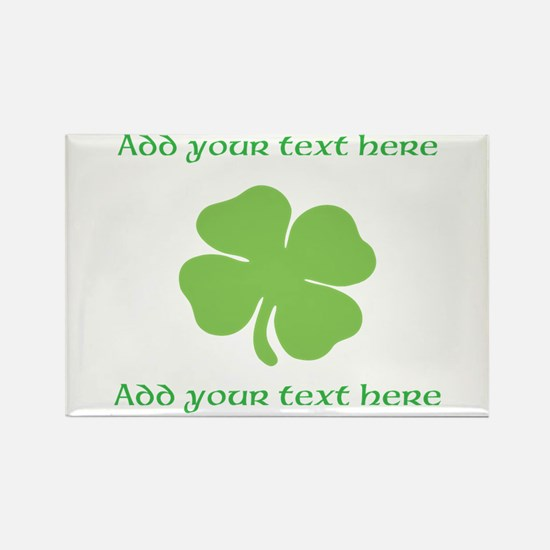 St. Patricks Day personalisable shamrock Magnets
