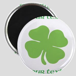 St. Patricks Day personalisable shamrock Magnets