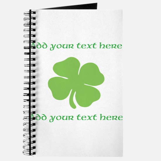 St. Patricks Day personalisable shamrock Journal