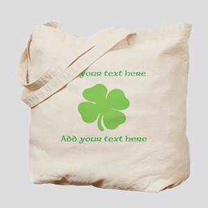 St. Patricks Day personalisable shamrock Tote Bag