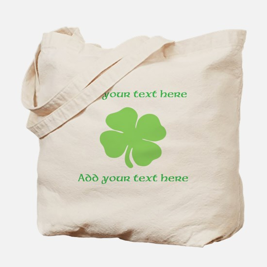 St. Patricks Day personalisable shamrock Tote Bag