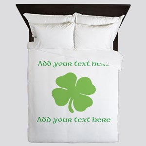 St. Patricks Day personalisable shamrock Queen Duv
