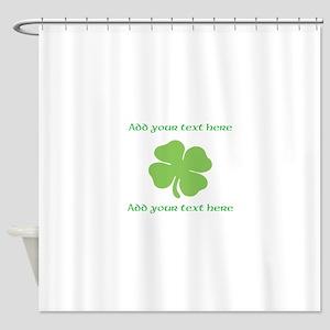 St. Patricks Day personalisable shamrock Shower Cu