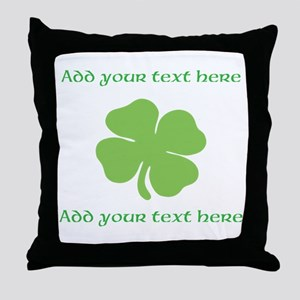 St. Patricks Day personalisable shamrock Throw Pil